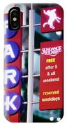Fort Worth Parking Sign Digital Oil Paint IPhone Case