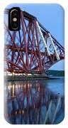Forth Railway Bridge In Edinburg Scotland  IPhone Case