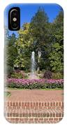 Fountain Among Flowers IPhone Case