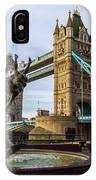 Fountain And Bridge IPhone Case