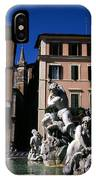 Fountain Depicting Neptune The Piazza Navona The Spire Of The Church Of Santa Maria Della Pace Rome IPhone Case