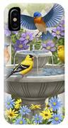 Fountain Festivities - Birds And Birdbath Painting IPhone X Case