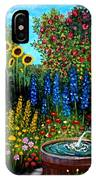 Fountain Of Flowers IPhone Case