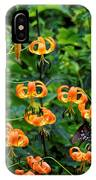 Four Butterflies On Turks Cap Lilies IPhone Case