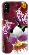 Four Exotic Orchid Blossoms IPhone Case