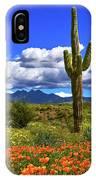 Four Peaks And Poppies, Springtime, Arizona IPhone Case