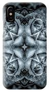 Noir Four Roses Symmetrical Focus IPhone Case