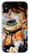 Fox Family Addition IPhone Case