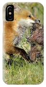 Fox With Dinner IPhone Case