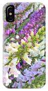 Foxglove Card IPhone Case
