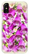 Foxglove Flowers Blank Note Card IPhone Case