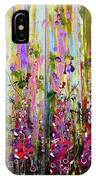 Foxgloves Large Painting IPhone Case