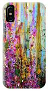 Foxgloves Panel One IPhone Case