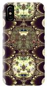 Fractal 42 Cameos In Gold And Ivory IPhone Case