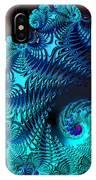 Fractal Art - Blue Wave IPhone Case