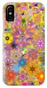 Fractal Floral Study 3 IPhone Case
