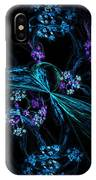 Fractal Forget Me Not Bouquet  IPhone Case