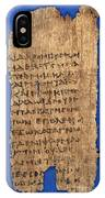 Fragment Of Hippocratic Oath, 3rd IPhone Case