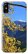 Framed By Fall IPhone Case