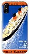 France Cruise Vintage Travel Poster Restored IPhone Case