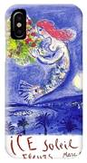 France Nice Soleil Fleurs Vintage 1961 Travel Poster By Marc Chagall IPhone X Case