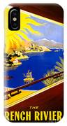 France Vintage Travel Poster Restored IPhone Case