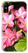 Frangipanis In Bloom IPhone Case