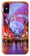 Fremont Street Experience At Night In Las Vegas IPhone Case by Bryan Mullennix