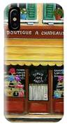French Hats And Purses Boutique IPhone Case