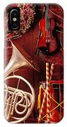 French Horn Christmas Still Life IPhone X Case