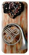 French Horn Hanging On Wall IPhone Case