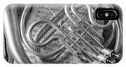 French Horn In Black And White IPhone X Case