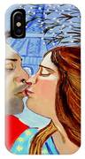 French Kissing At The Eiffel Tower IPhone Case