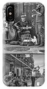 French Quarter Musicians Collage Bw IPhone Case