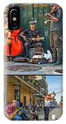 French Quarter Musicians Collage IPhone Case