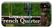 French Quarter Sign IPhone Case
