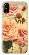 French Rose Bouquet IPhone Case