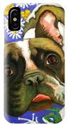Frenchie Plays With Frogs IPhone Case
