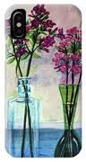 Fresh Cut Flowers In The Window IPhone Case