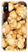 Fresh Gourmet Popcorn In Filled Frame Layout  IPhone Case