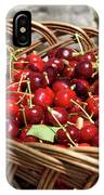 Fresh Picked Cherries In A Wicker Basket In Dolnje Cerovo In The IPhone Case