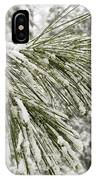 Fresh Snow Covers Needles On A Pine IPhone Case
