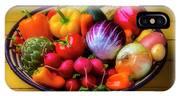 Fresh Vegetables In Lovely Basket IPhone X Case