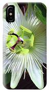 Fresh White Passion Flower  IPhone Case