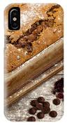 Freshly Baked Zucchini Bread On Rustic Wooden Boards IPhone Case