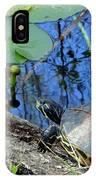 Freshwater Turtle Sunning IPhone Case