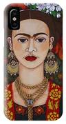 Frida Kahlo With Butterflies IPhone Case