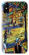 Friday Night Walk Prankearts Fine Arts IPhone Case