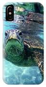 friendly Hawaiian sea turtle  IPhone Case