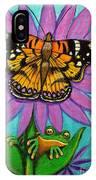 Frog And Butterfly IPhone Case